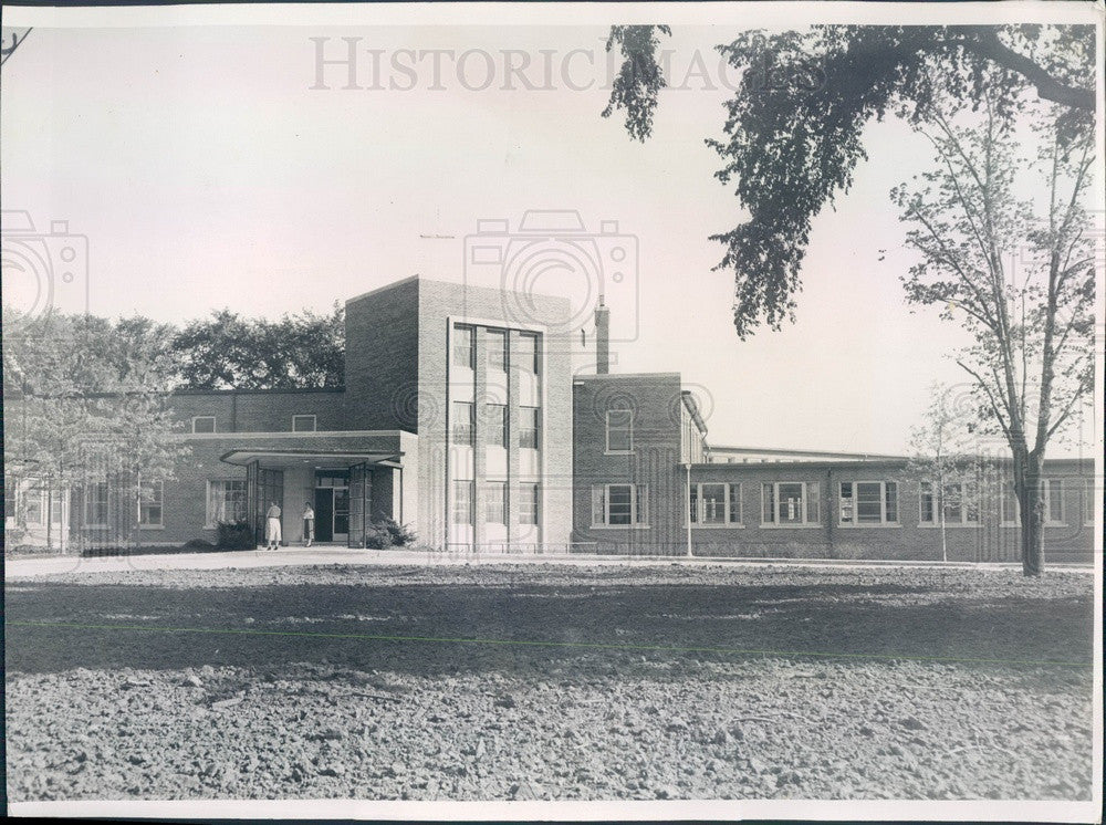 1955 Chicago, Illinois Suburban Cook County Tuberculosis Hospital Press Photo - Historic Images