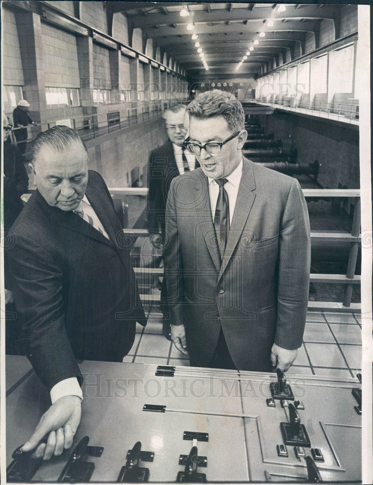 1967 Chicago, Illinois South Water Filtration Plant Dedication Press Photo - Historic Images