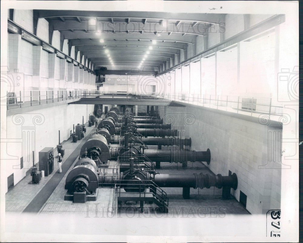 1958 Chicago, Illinois South District Water Filtration Plant Press Photo - Historic Images