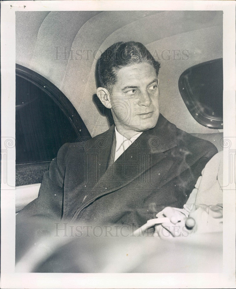 1954 Wall Street Financier Louis Wolfson Press Photo - Historic Images