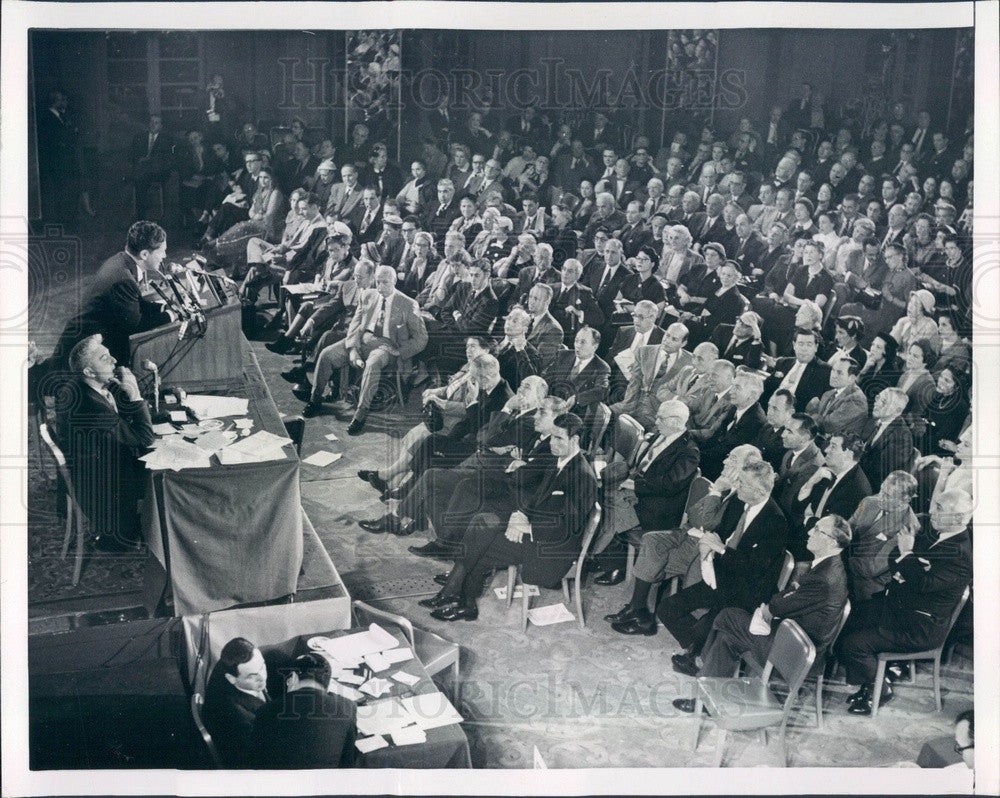 1955 Wall Street Financier Louis Wolfson Press Photo - Historic Images