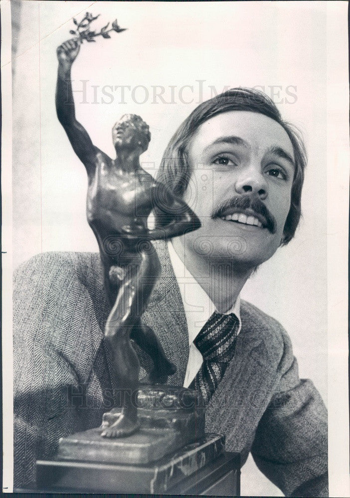 1975 Olympic Runner Rick Wohlhuter, Sullivan Award Winner Press Photo - Historic Images
