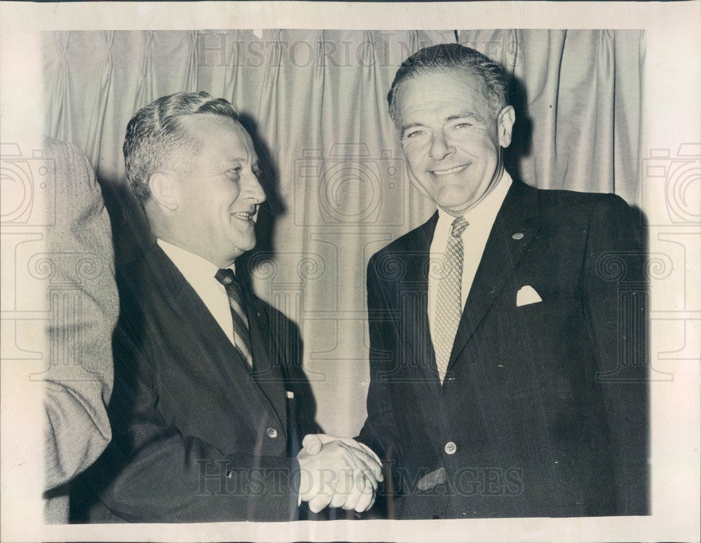 1960 Illinois Senatorial Nominee Samuel Witwer & Henry Cabot Lodge Press Photo - Historic Images