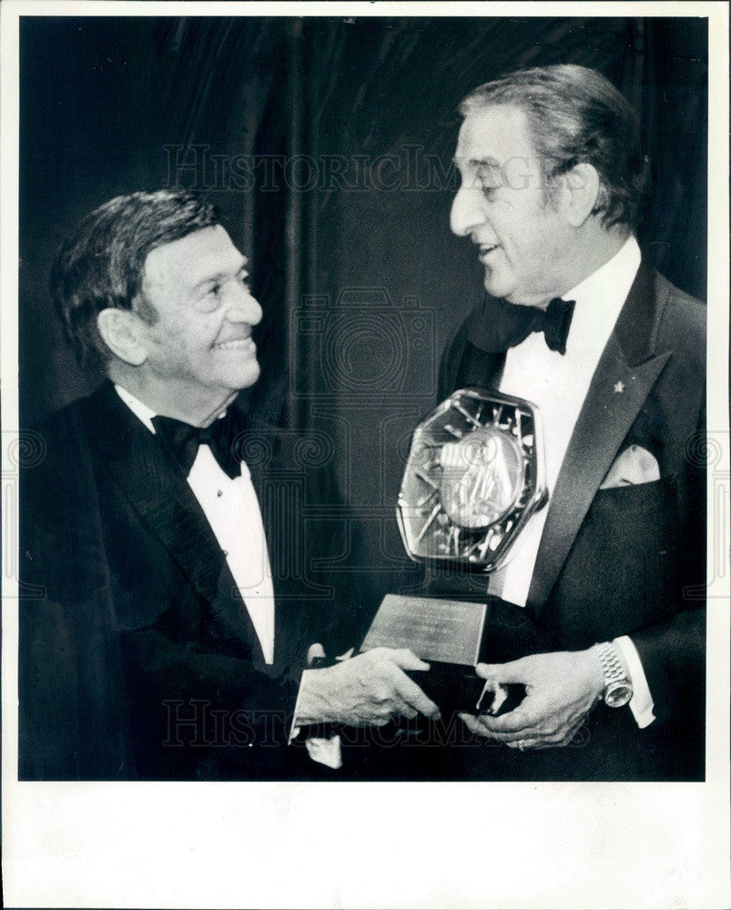 1982 Actor Danny Thomas & Chicago Dr. J Lester Wilkey Press Photo - Historic Images