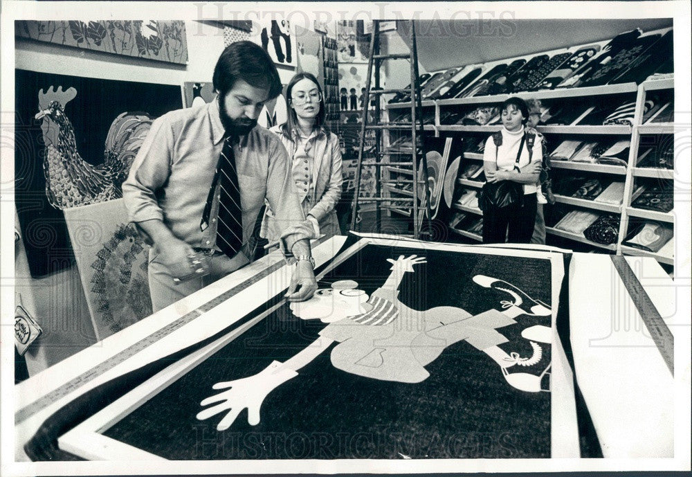 1978 Chicago, IL Mike & Rosalinda Lynch of Domus Store Press Photo - Historic Images