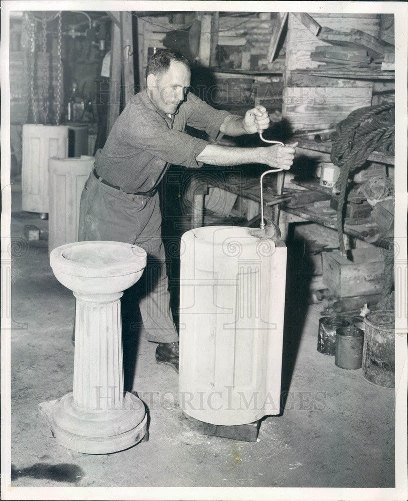 1955 Chicago, Illinois Park District New Water Fountains Press Photo - Historic Images