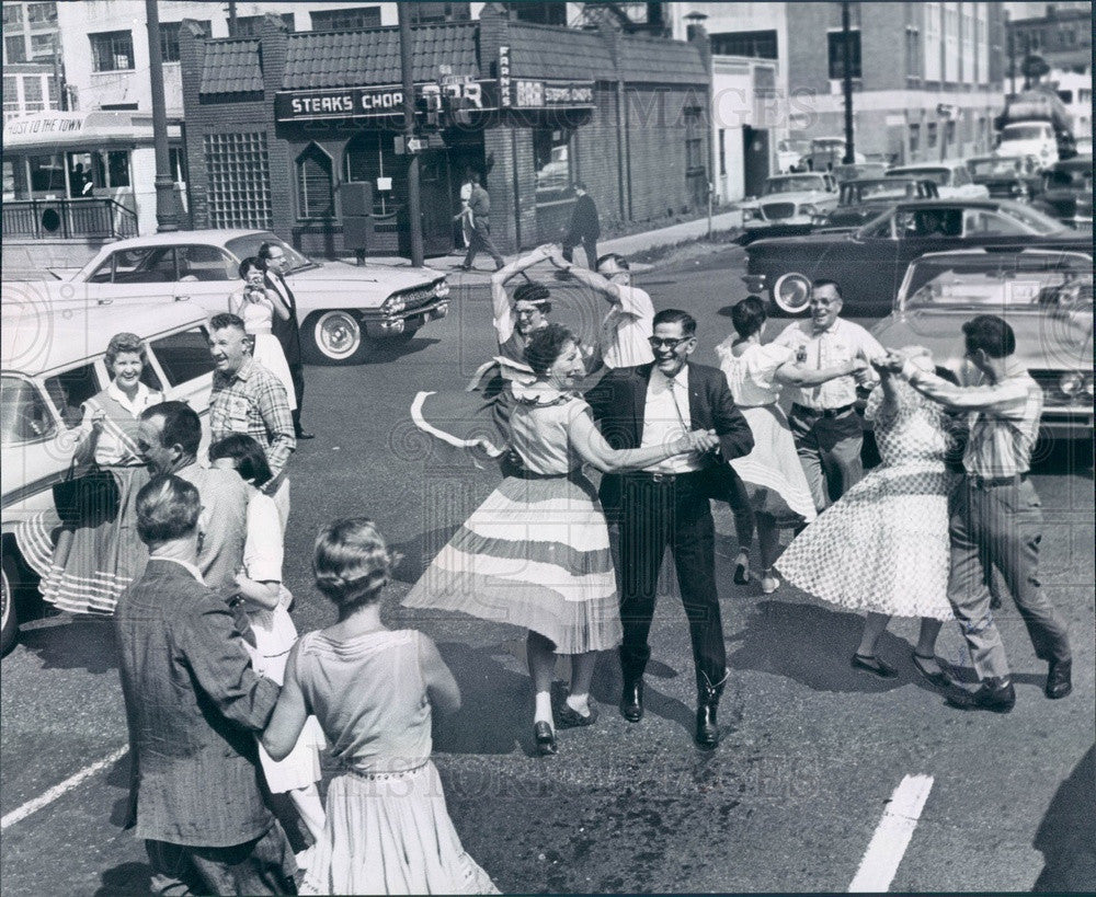 1961 Detroit, Michigan Square Dancers Press Photo - Historic Images