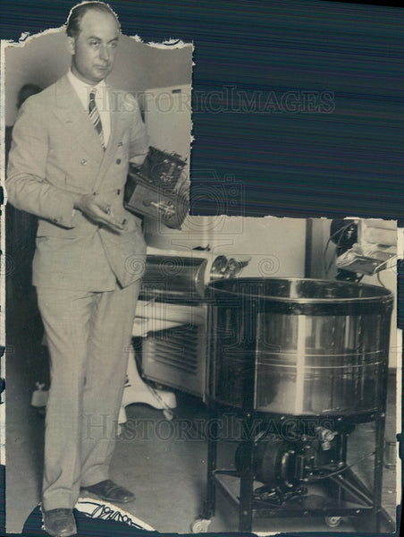 1927 Radio Wizard Maurice Francill, Remote Control Pioneer Press Photo - Historic Images