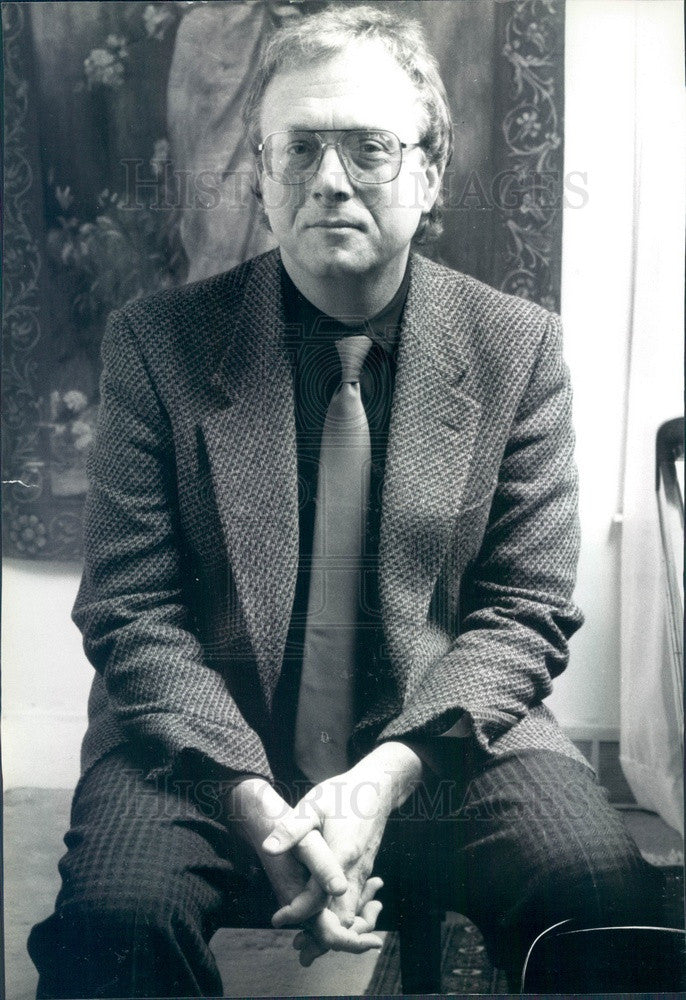 1990 Ann Arbor, MI Pulitzer Prize Winning Composer William Bolcom Press Photo - Historic Images