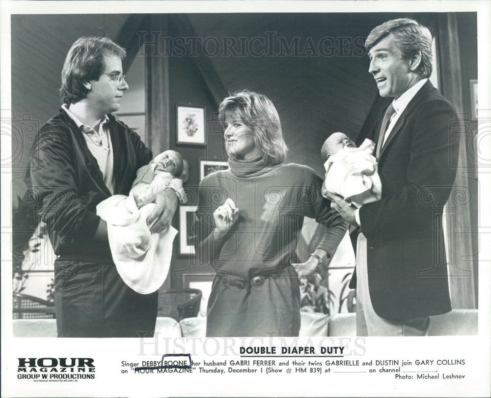 Undated Singer Debby Boone & Family & Actor Gary Collins Press Photo - Historic Images