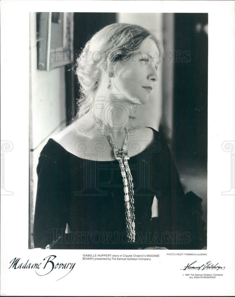 1992 Actress Isabelle Huppert Press Photo - Historic Images