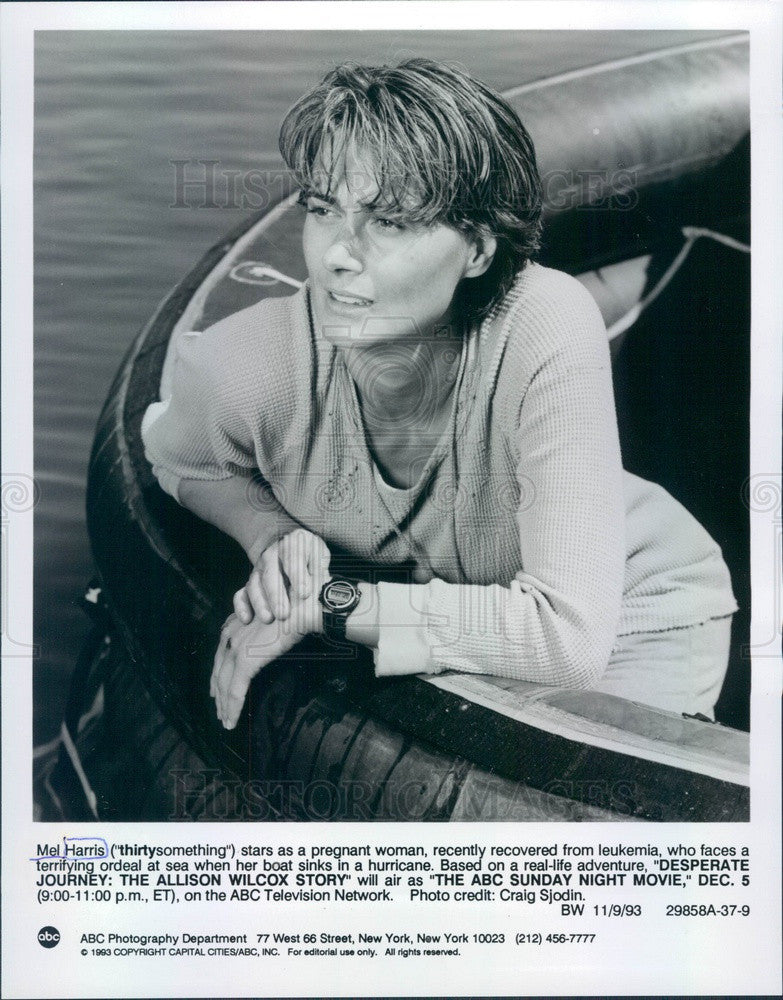 1993 Actress Mel Harris Press Photo - Historic Images