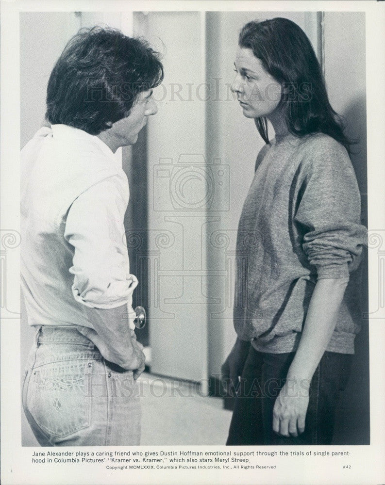 1980 Hollywood Actors Jane Alexander/Dustin Hoffman Kramer vs Kramer Press Photo - Historic Images