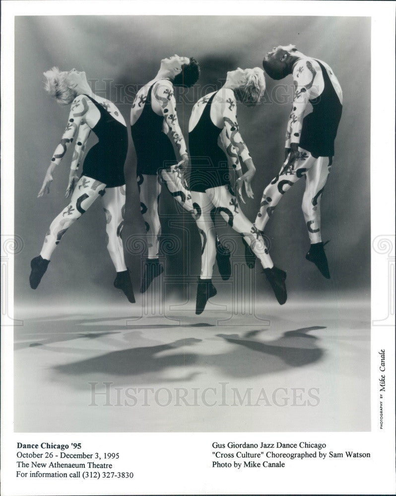 1995 Gus Giordano Jazz Dance Chicago Press Photo - Historic Images