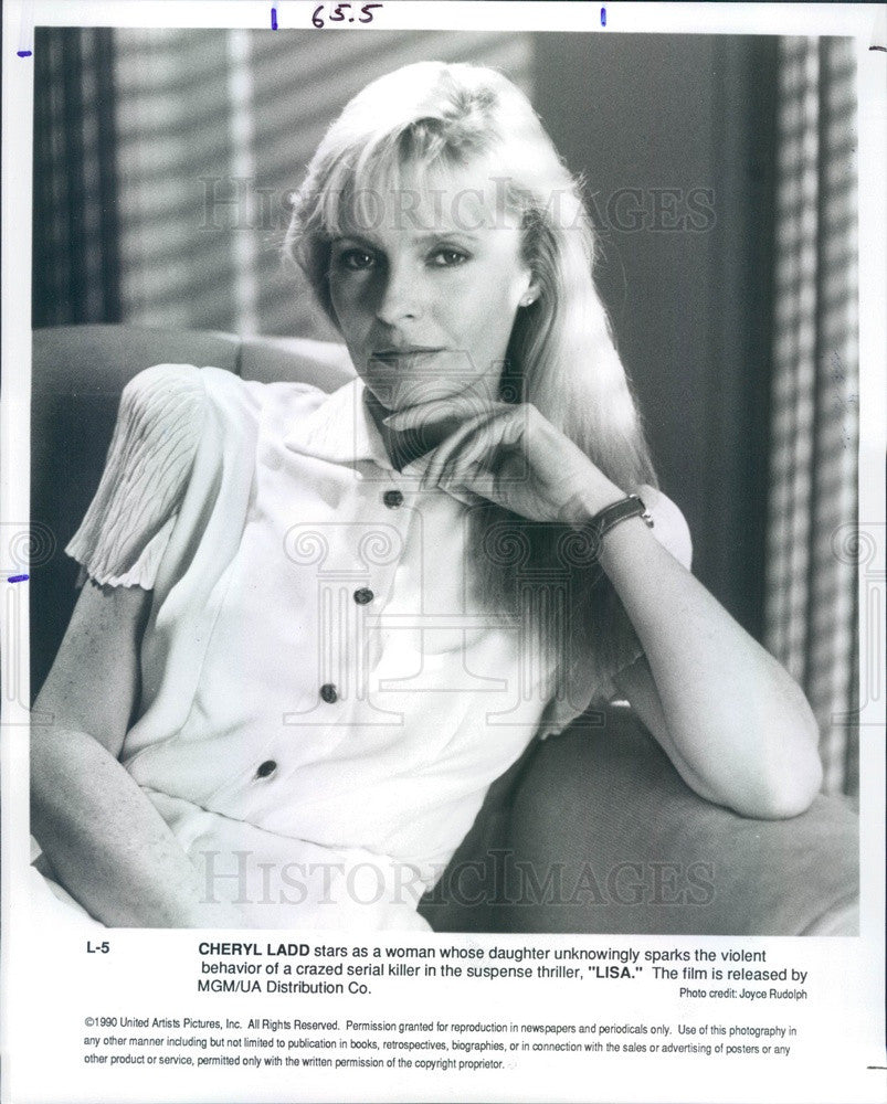 1990 Hollywood Actress & Movie Star Cherly Ladd in Lisa Press Photo - Historic Images