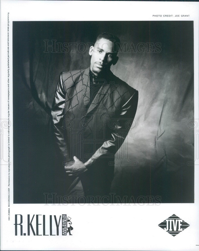 1991 American Rhythm & Blues Singer/Songwriter R Kelly Press Photo - Historic Images
