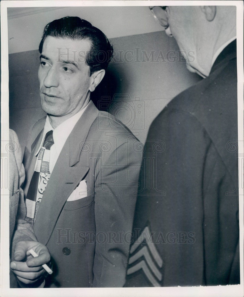 1949 Detroit, Michigan Convicted Murderer James Sacchetti Press Photo - Historic Images