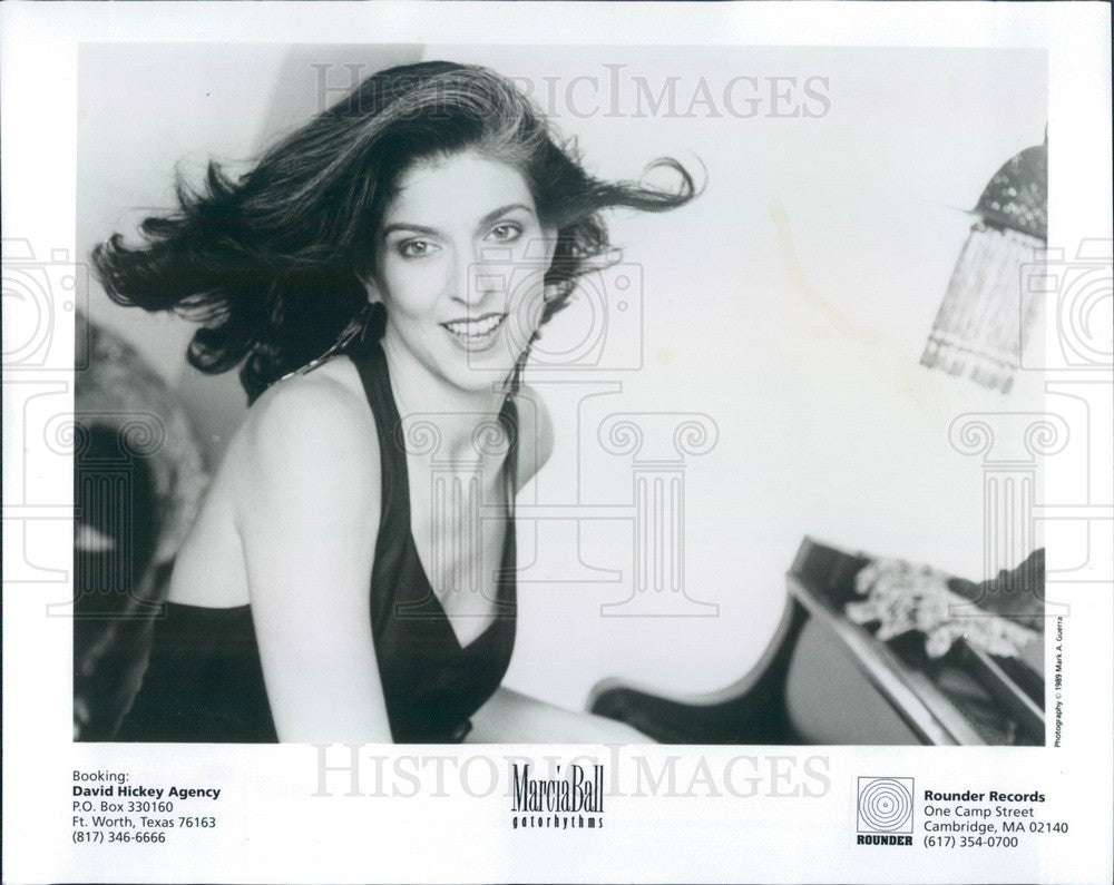 1991 American Blues Singer/Pianist Marcia Ball Press Photo - Historic Images