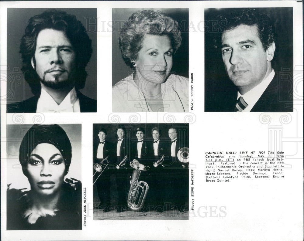 1994 Opera Singer Samuel Ramey/Marilyn Horne/Placido Domingo/L Price Press Photo - Historic Images