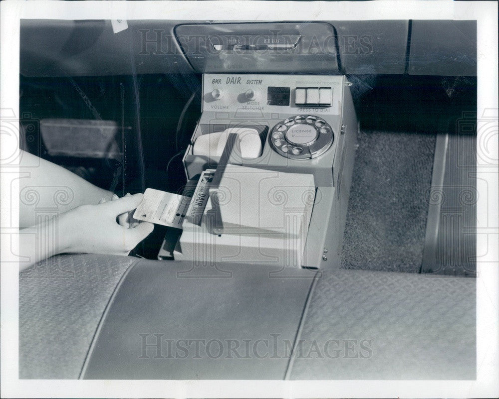 1966 Auto DAIR System, 1960's Version of GPS, Dashboard Display Press Photo - Historic Images