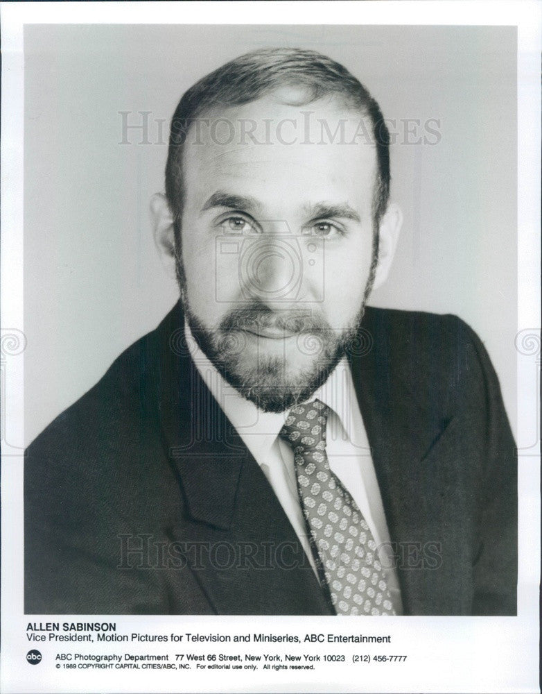 1990 ABC Entertainment Vice President Allen Sabinson Press Photo - Historic Images