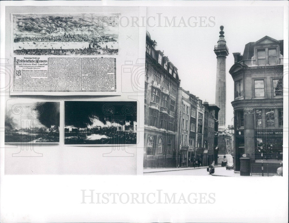 1966 London England Great Fire Monument & Prints at Guildhall Museum Press Photo - Historic Images