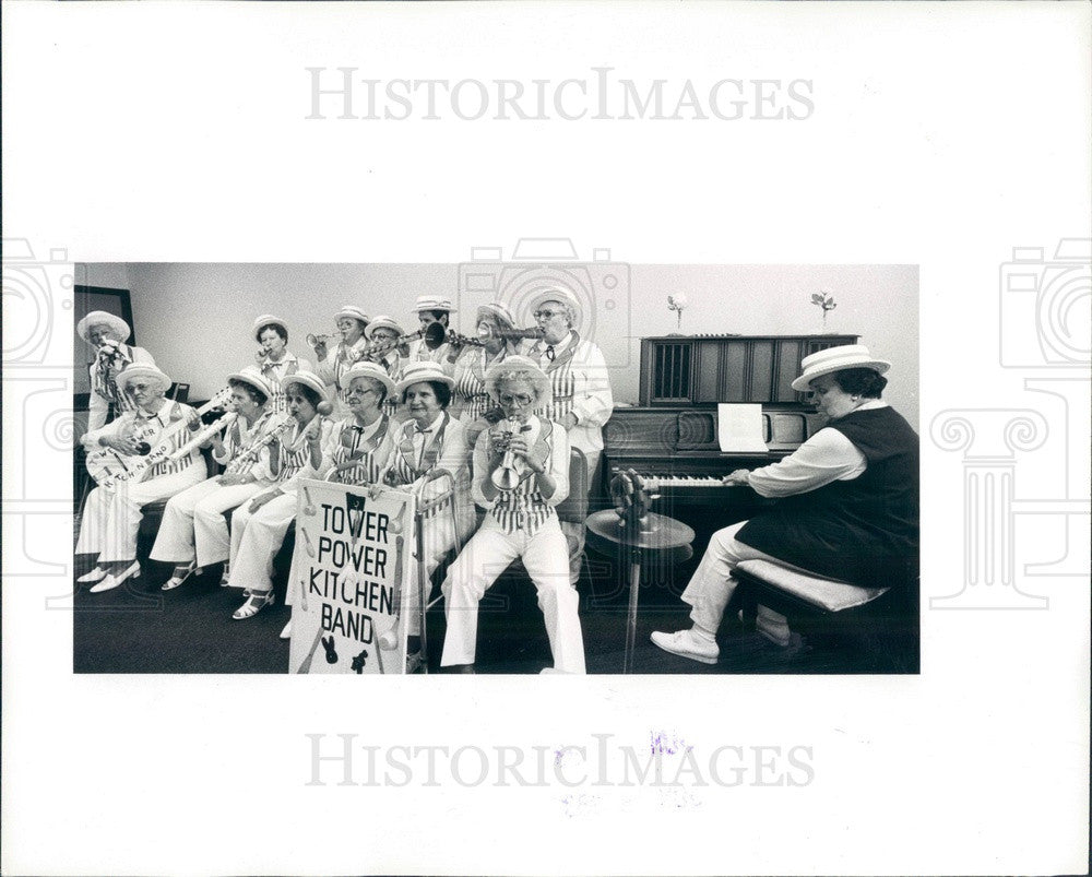 1983 Detroit, Michigan Lakeside Tower Power Kitchen Band Press Photo - Historic Images