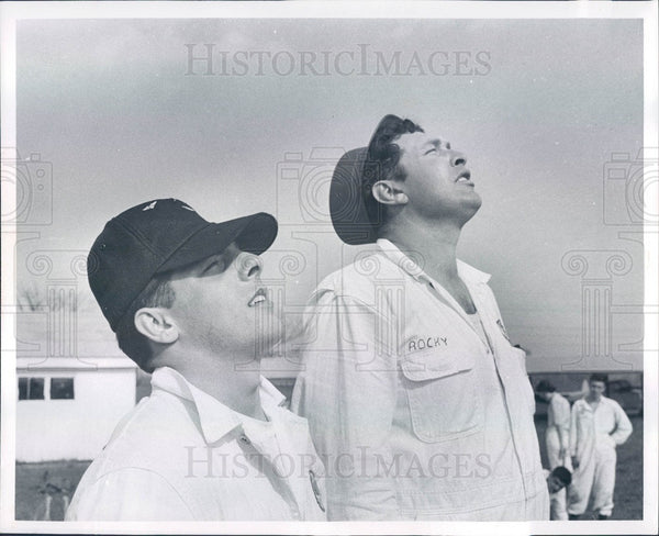 1961 All American Sport Parachute Team, Robert Radowick & Rocky Press Photo - Historic Images