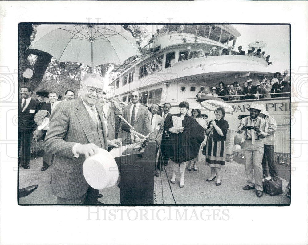 1988 Detroit, Michigan Grayhaven Marine Village Groundbreaking Press Photo - Historic Images