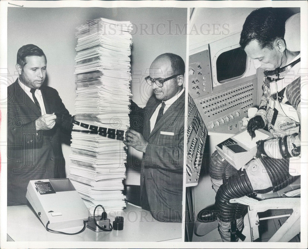 1964 NASA Microfilm Portable Data Storage & Retrieval for Apollo Press Photo - Historic Images