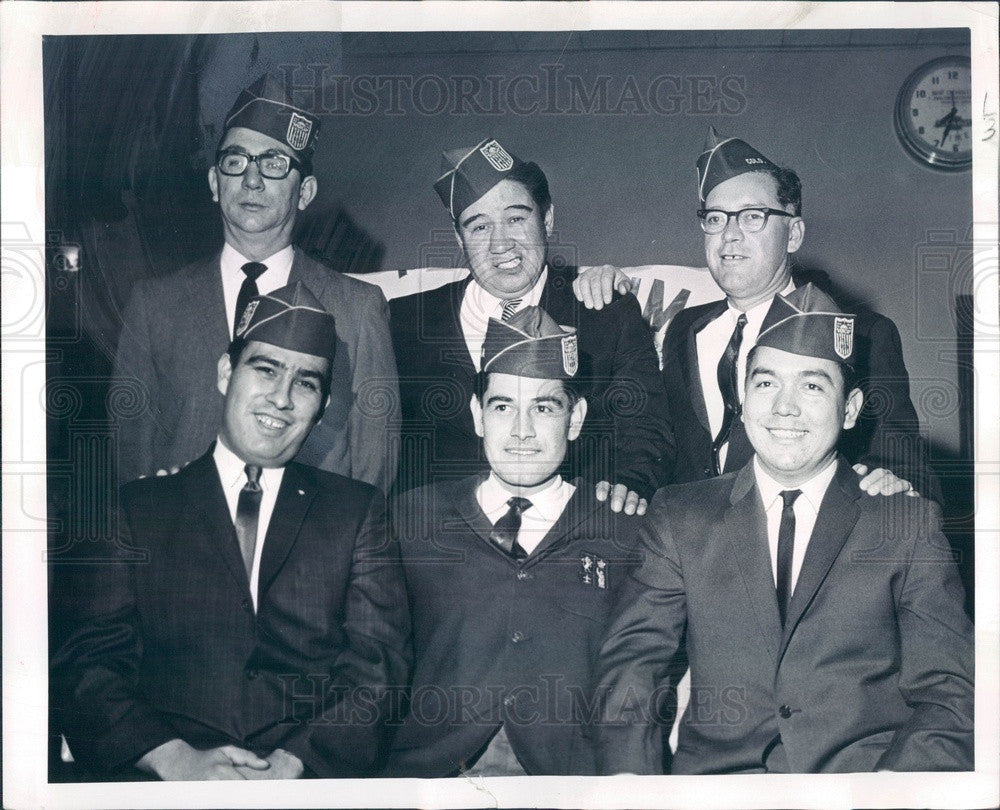1966 Denver, Colorado Mile-Hi Chapter of American GI Forum Officers Press Photo - Historic Images