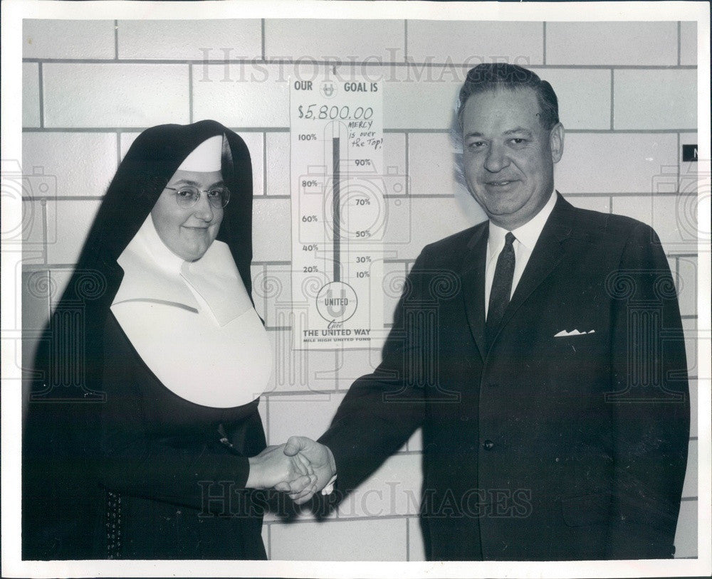 1965 Denver, CO Mercy Hospital Administrator Sister Mary Kieran Press Photo - Historic Images