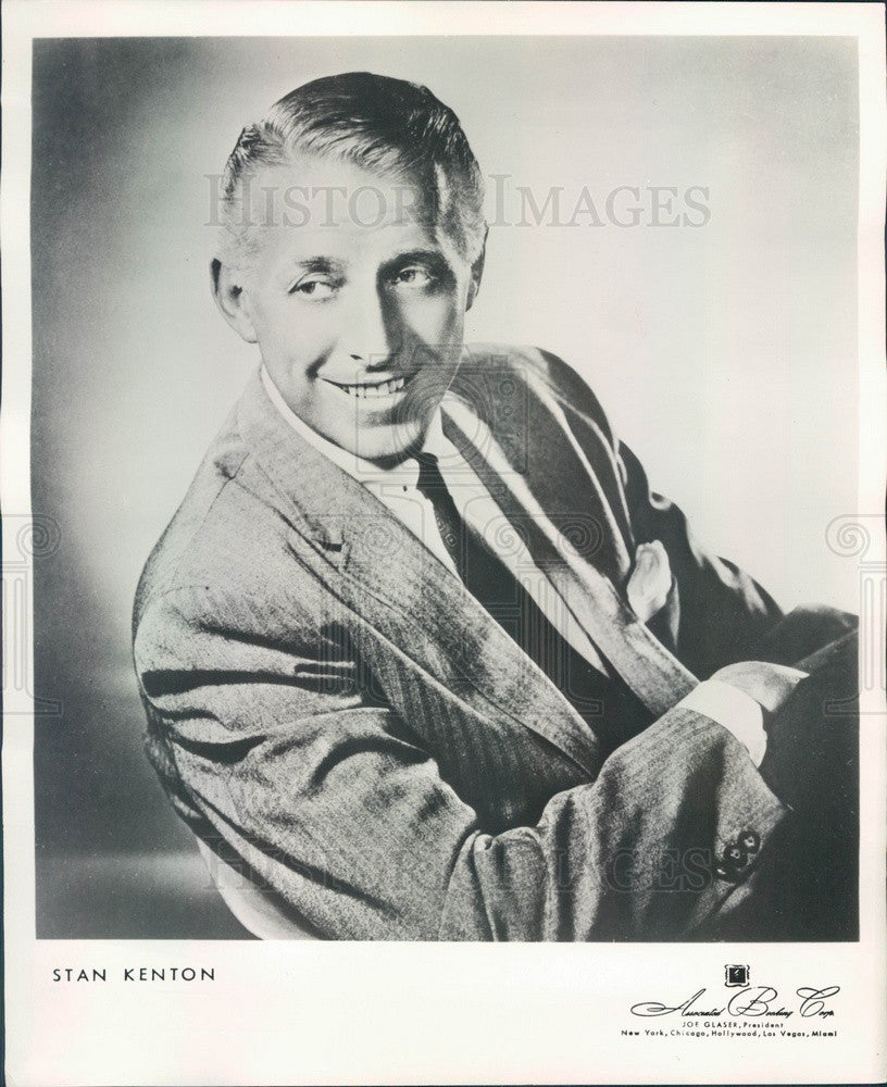 1962 Orchestra Leader Stan Kenton Press Photo - Historic Images