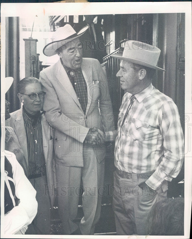 1967 Colorado Governor John Love & Railroad Car Owner James Arneill Press Photo - Historic Images