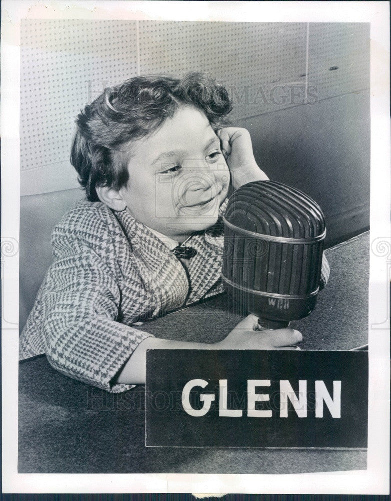 1947 Radio Talk Show Juvenile Jury Panelist Glenn Mark Arthurs Press Photo - Historic Images