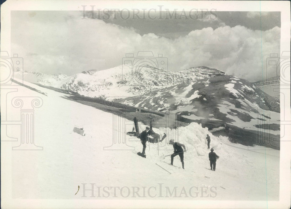 1930 CO Rocky Mtn Natl Park, Snow Plow Opening Fall River Rd in June Press Photo - Historic Images