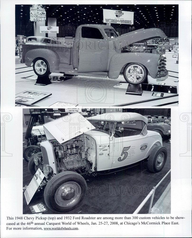 2008 1948 Chevy Pickup & 1932 Ford Roadster Press Photo - Historic Images
