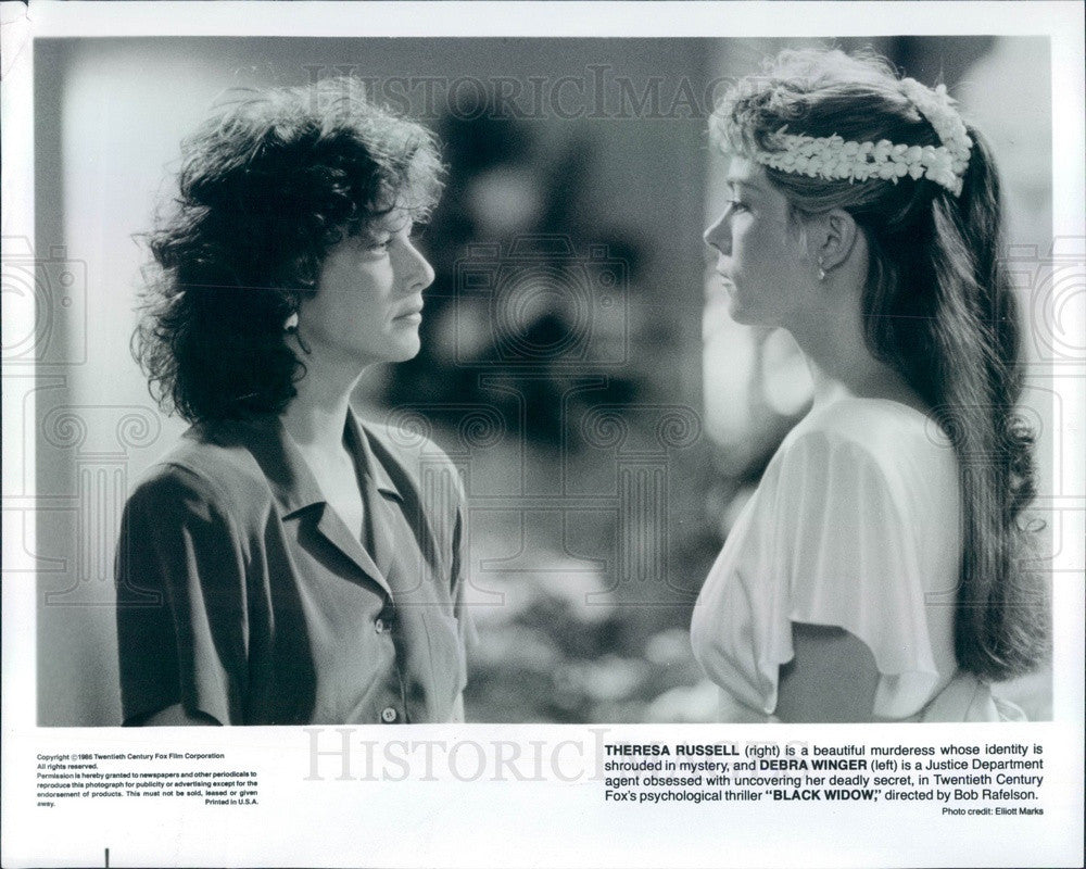 1995 American Hollywood Actors Theresa Russell & Debra Winger Press Photo - Historic Images