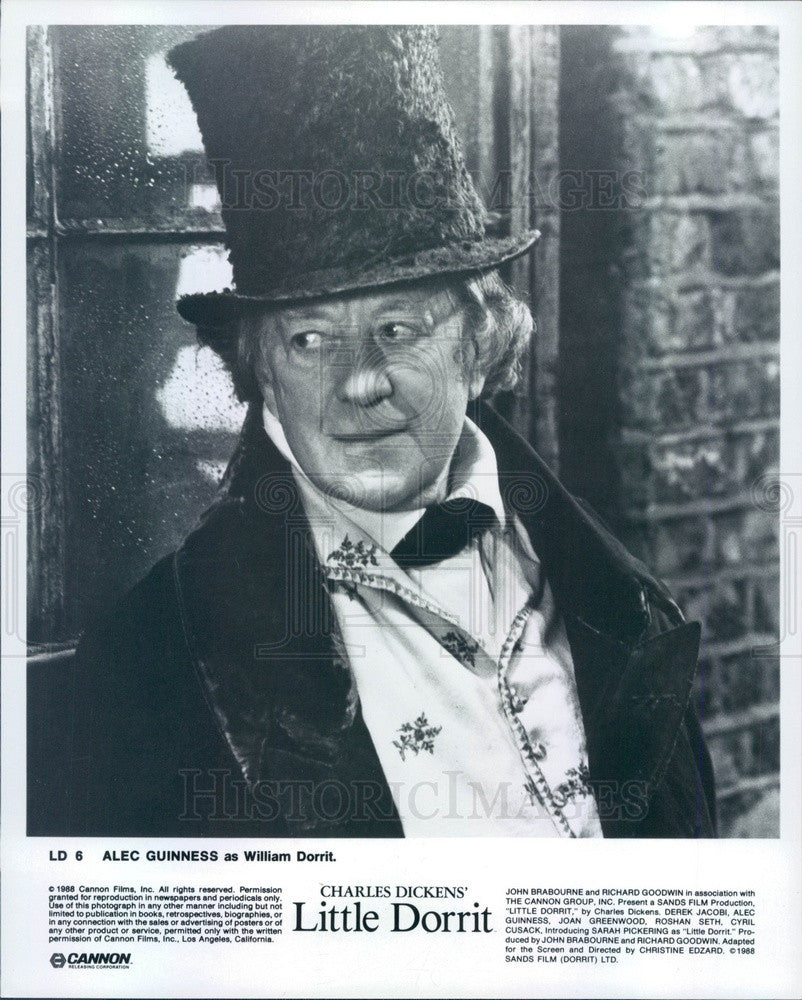 1988 English Actor & Movie Star Alec Guinness in Little Dorrit Press Photo - Historic Images