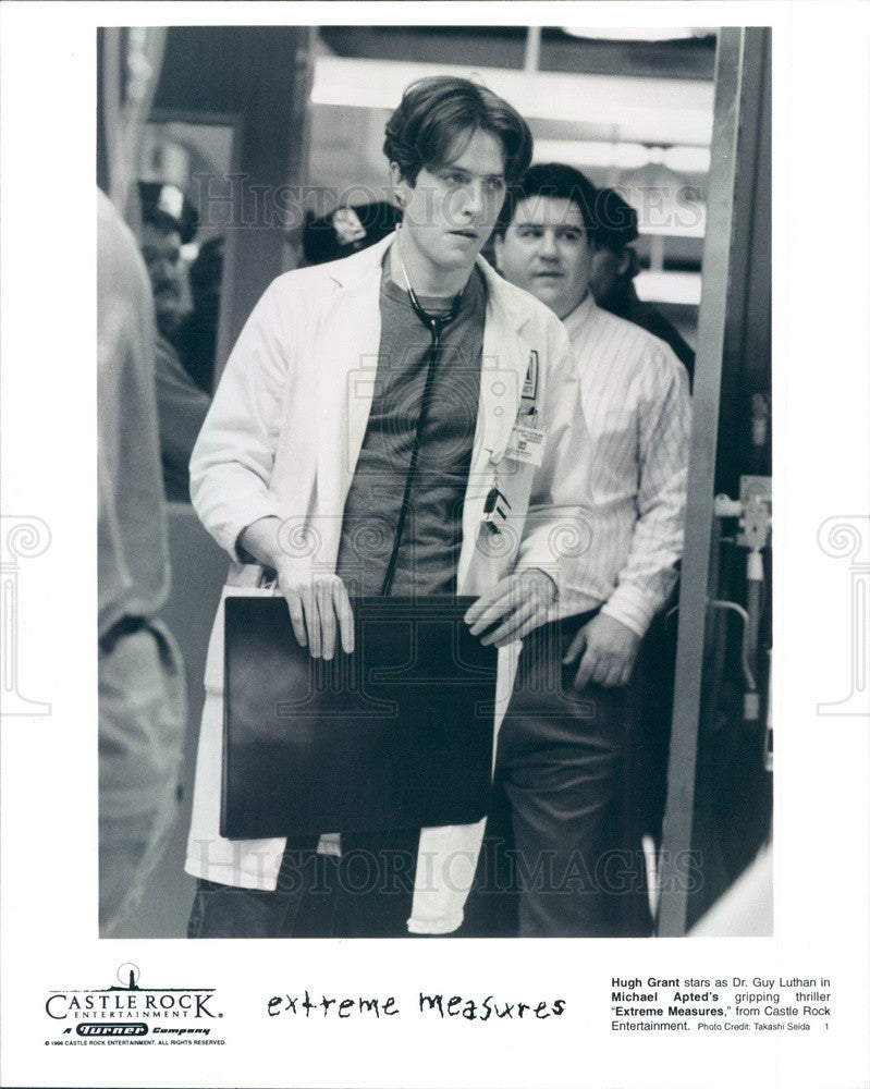 1996 English Actor/Movie Star & Producer Hugh Grant Press Photo - Historic Images