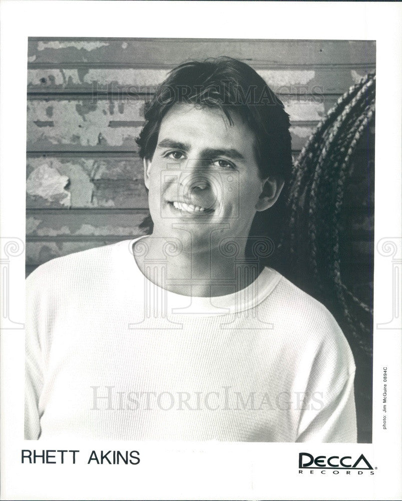 1995 American Country Music Singer Rhett Akins Press Photo - Historic Images