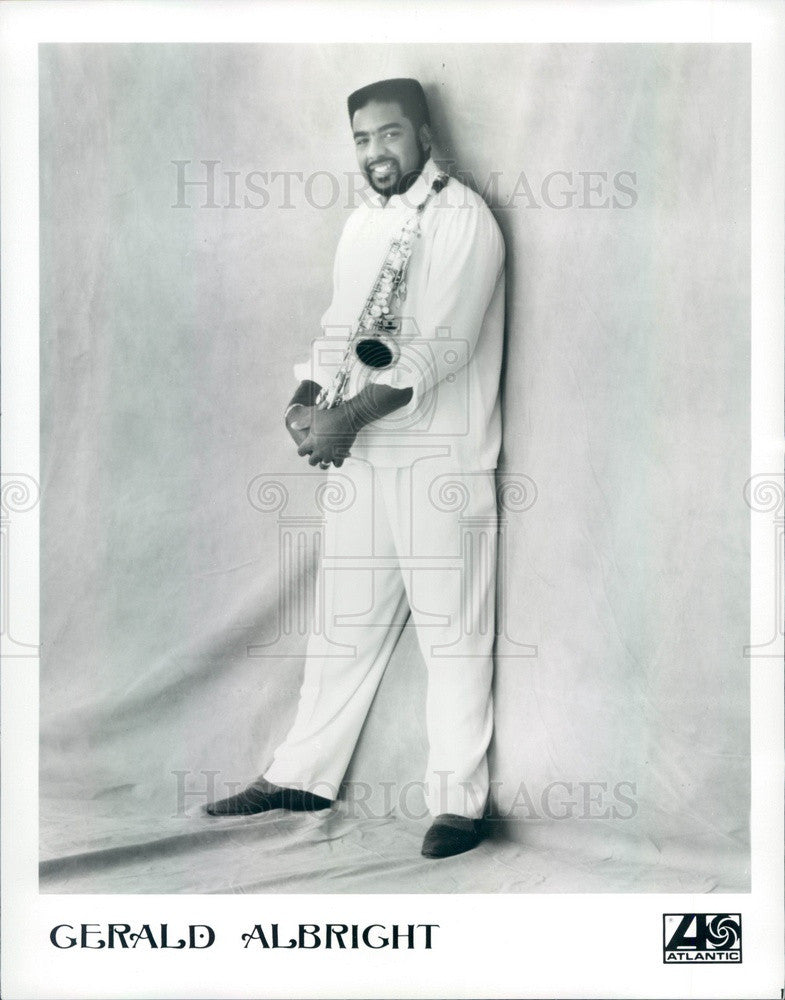 1991 American Jazz Saxophonist Gerald Albright Press Photo - Historic Images