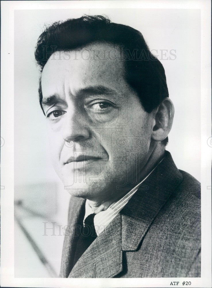 1965 American Hollywood Actor Charles Aidman Press Photo - Historic Images