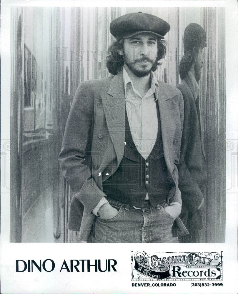1977 Musician Dino Arthur Press Photo - Historic Images