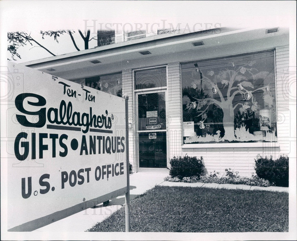 1970 Lansing, Michigan Gallagher's Gift Shop Press Photo - Historic Images