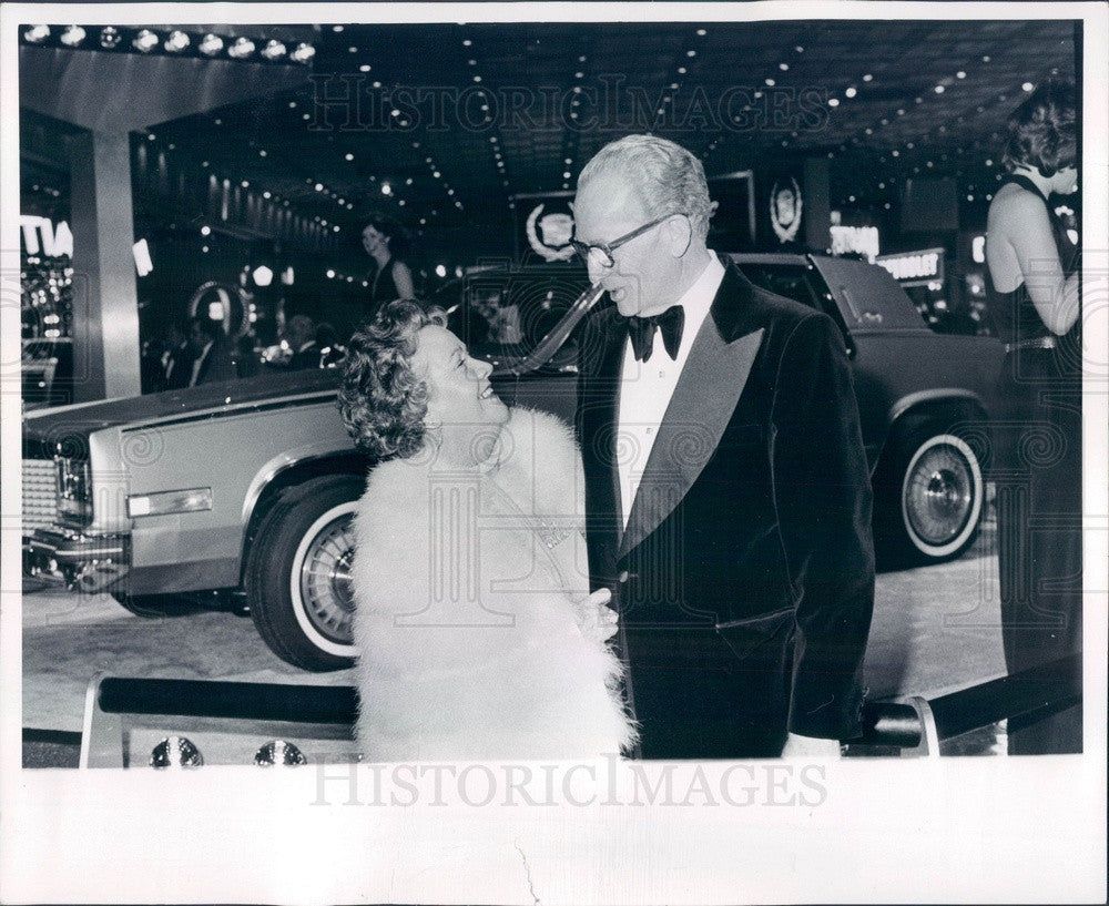 1979 Detroit, Michigan General Motors President Thomas Murphy & Wife Press Photo - Historic Images