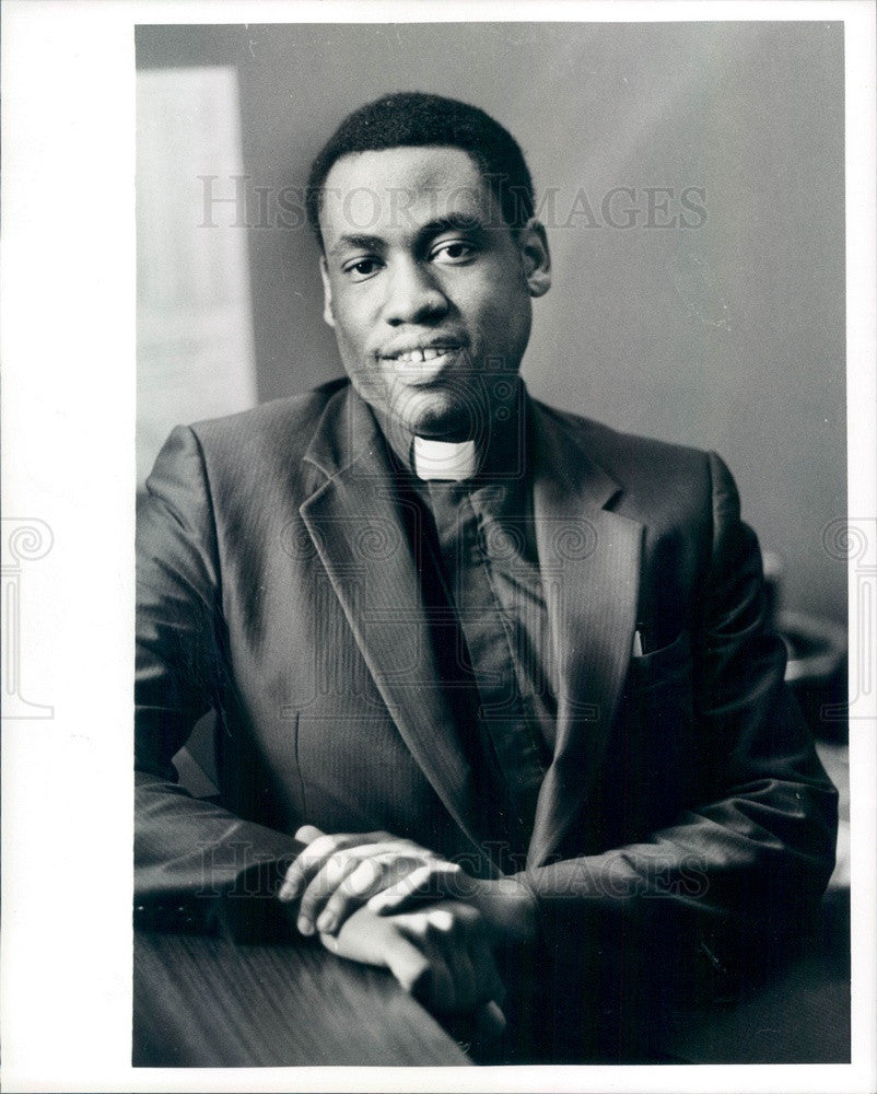1985 Detroit, Michigan Police Chaplain David Murray Press Photo - Historic Images