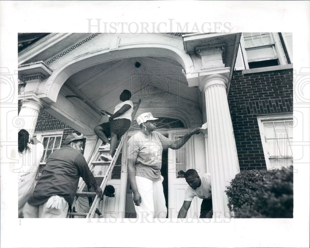 1991 Detroit, Michigan Muslim Senior Citizen Home Press Photo - Historic Images