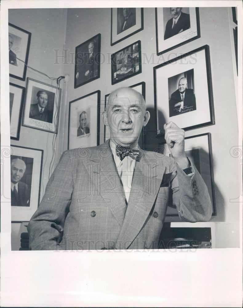 1952 Author, Presidential Adviser, Law Professor Raymond Moley Press Photo - Historic Images