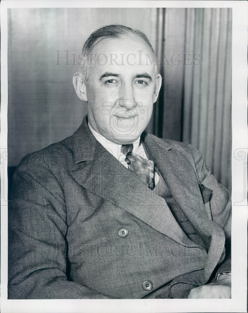 1935 Author, Presidential Adviser, Law Professor Raymond Moley Press Photo - Historic Images